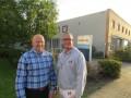 Marcel van Daalen (links) en Richard de Otter: 'Een leuke stageplaats voor schilderleerlingen en nog goedkoop ook'
