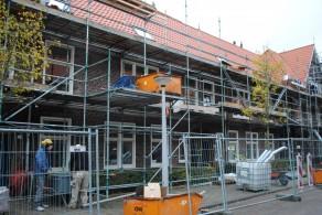 Bouwactiviteiten in het renovatieproject De Hoogte.