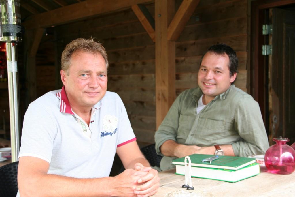 Frank Husson (links) en Alexander Smeulders willen samen het concept schildersorde.nl in de markt zetten.