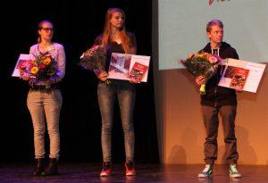 Jonge prijswinnaars in de categorie Vrije Opdracht.