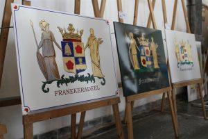 De winnende heraldische werken van het wapen van Franekeradeel.
