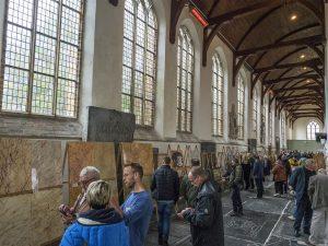 Alle inzendingen van de vakwedstrijd konden door de bezoekers worden bewonderd in de Martinikerk.