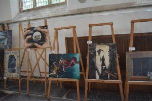 Mooie 'kunstwerken' in de Martinikerk.