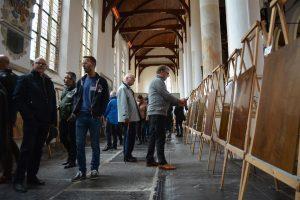 Vakwerk in de Martinikerk in Franeker.